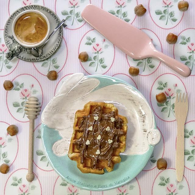 waffles waffle flatlay