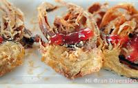 Alcachofas rebozadas con virutas de foie