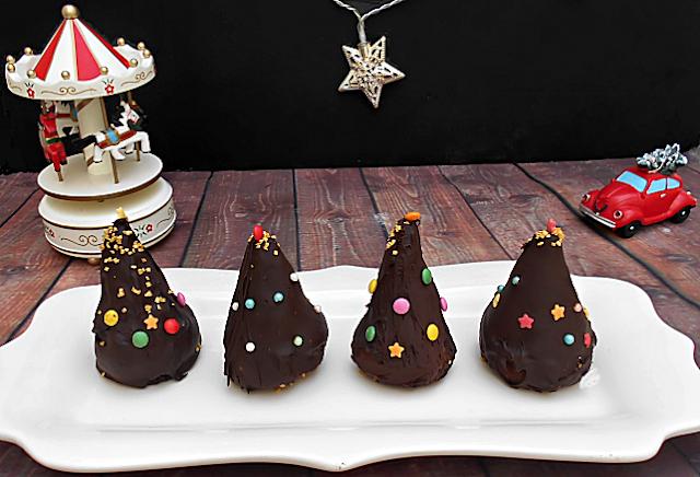 piramides de chocolate