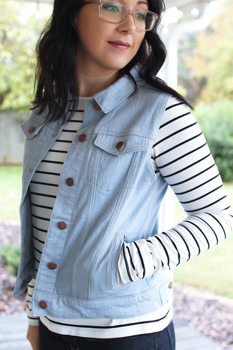 Hampton Jean Vest & Panama Tee // Sewing For Women