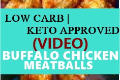 BUFFALO CHICKEN MEATBALLS LOW CARB !!- KETO APPROVED (VIDEO)