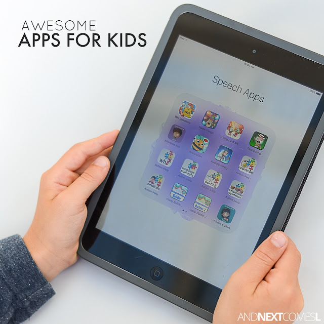 Awesome apps for kids including games, speech therapy apps, social skills apps, and more from And Next Comes L