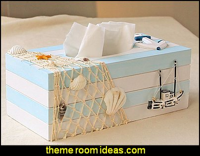 Tissue Box Cover Mediterranean Retro Style Decoration   seaside cottage decorating ideas - coastal living living room ideas - beach cottage coastal living style decorating ideas - beach house decor - seashell decor - nautical bedroom furniture