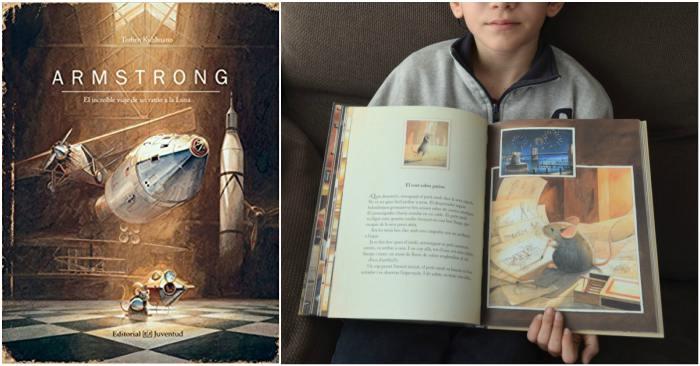 cuentos infantiles, libros conocimientos informativos espacio, amstrong