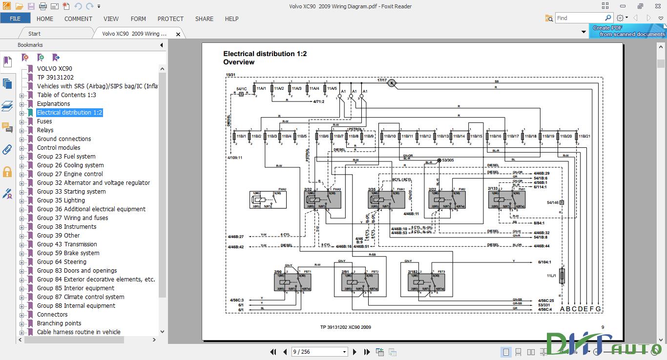 Volvo Xc90 2009 Wiring Diagram