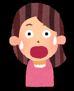 女性の表情のイラスト「驚いた顔」