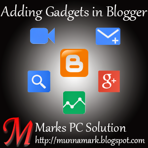 How to Add Gadgets in Blogger