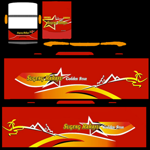 Livery Sugeng Rahayu Golden Star Avante