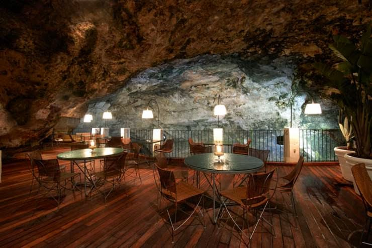 The Seaside Restaurant Inside a Cave in Italy