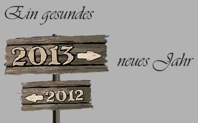 Schild altes und neues Jahr