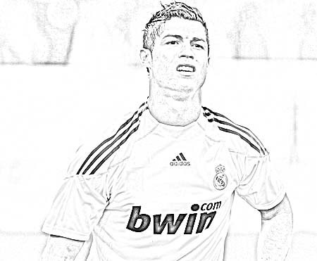 Soccer Coloring Pages Ronaldo | Coloring Pages