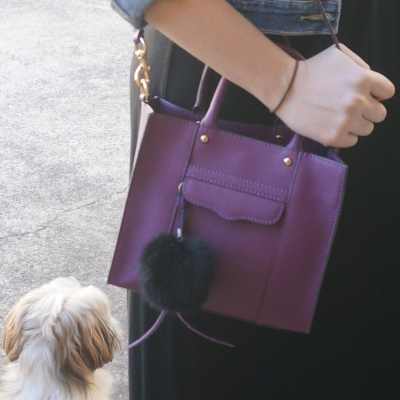 Away From The Blue | Rebecca Minkoff mini MAB tote in plum