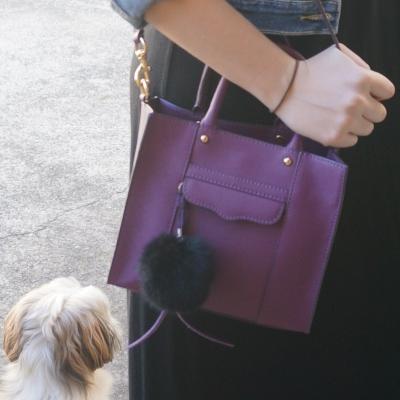 Away From The Blue | Rebecca Minkoff mini MAB tote in plum