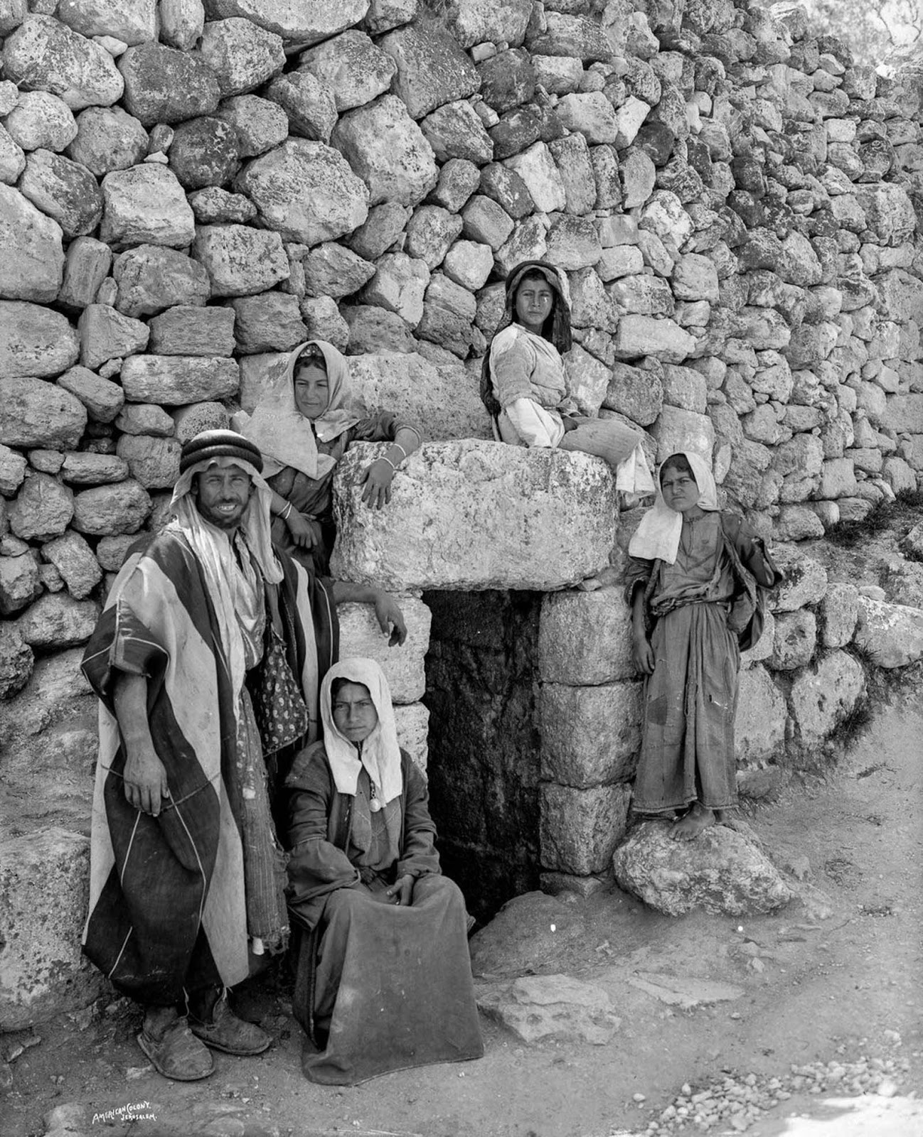 Bedouins at the Tomb of Lazarus near Jerusalem.
