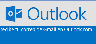 Correos de Gmail en Outlook
