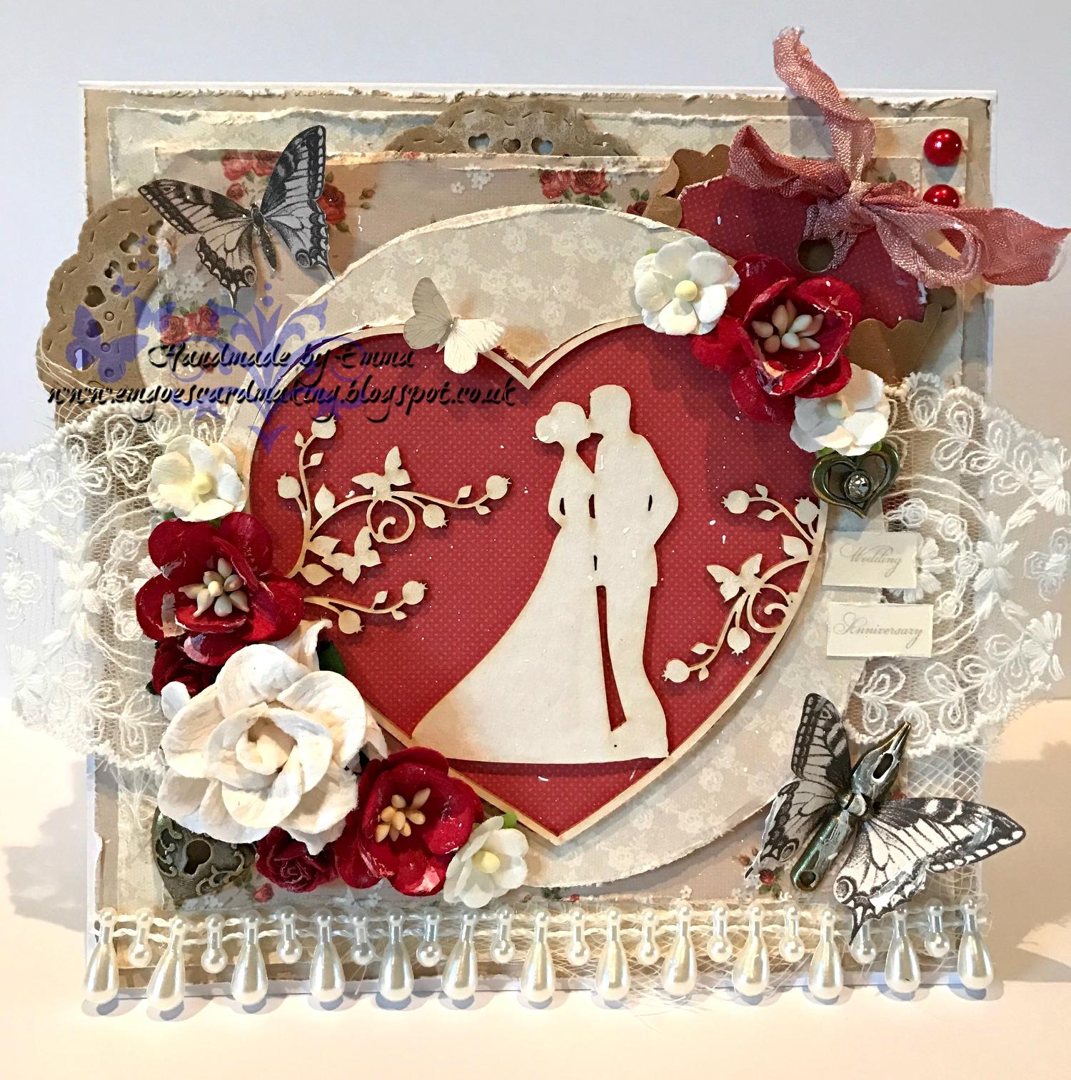 emgoescardmaking 40th Wedding Anniversary Card