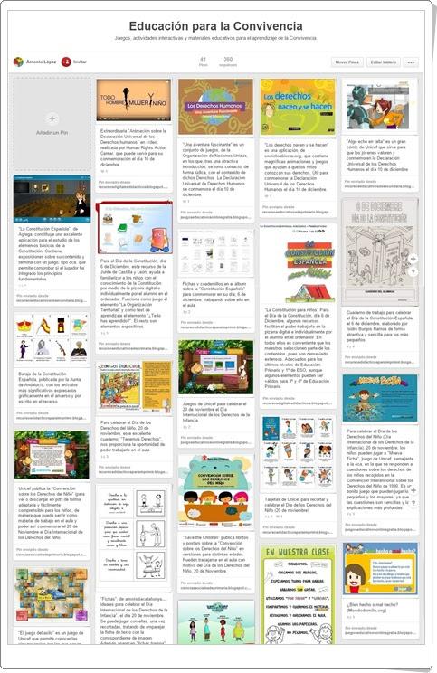 """""""Tablero con más de 60 juegos y actividades sobre Educación para la Convivencia"""""""