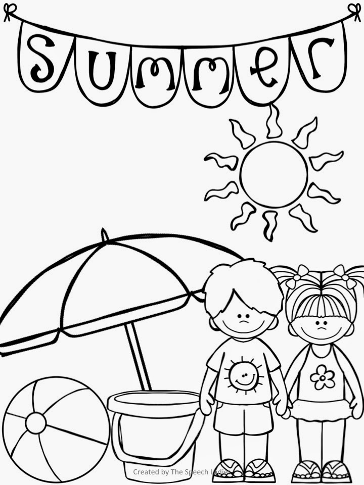 end of summer coloring pages - photo#19