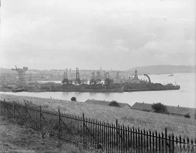 Devonport dockyards, 5 November 1941, worldwartwo.filminspector.com