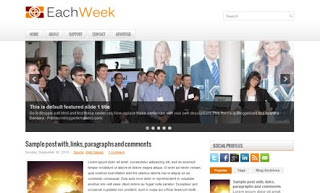 EachWeek Blogger Template