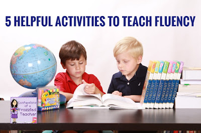 "Two boys reading with the heading ""5 Helpful Activities to Teach Fluency"""