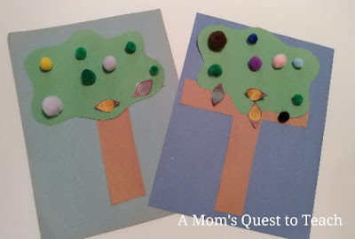 Preschool Crafts - Letter T made into a tree
