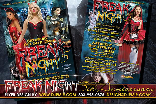 Freak Night 5 Halloween Ball Flyer Design