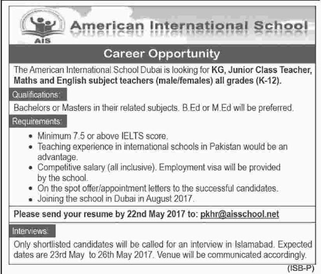 English Teachers Uae Government Schools Featured Job
