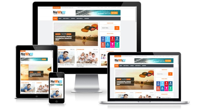 News52 blogger template