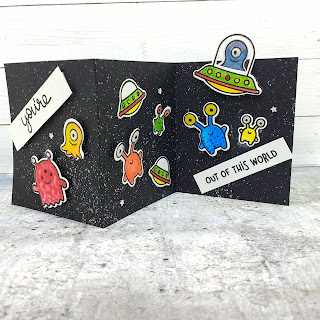 Beam Me UP! a card by Diane Morales | Beam Me Up Stamp Set by Lawn Fawn