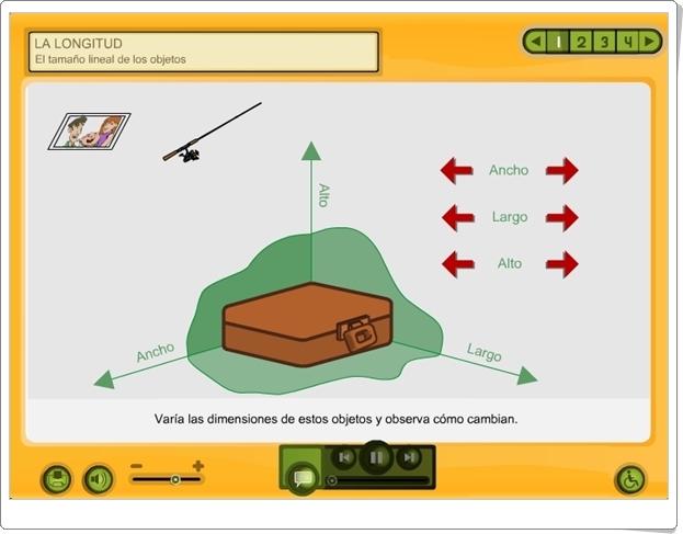 LA LONGITUD (Aplicación Interactiva de Matemáticas de Primaria)