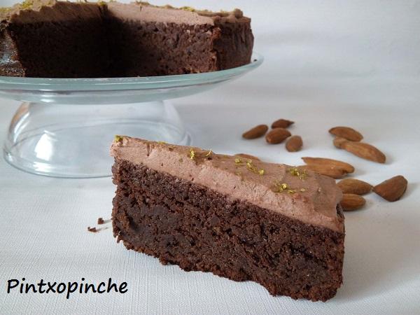 pastel, chocolate, vainilla, pastel de chocolate con lima, trufa, sin gluten, lima, recetas sin gluten