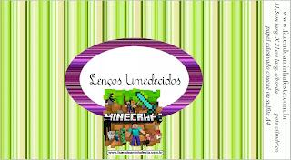 Cumpleaños de Minecraft: Etiquetas para Candy Bar para Imprimir Gratis.