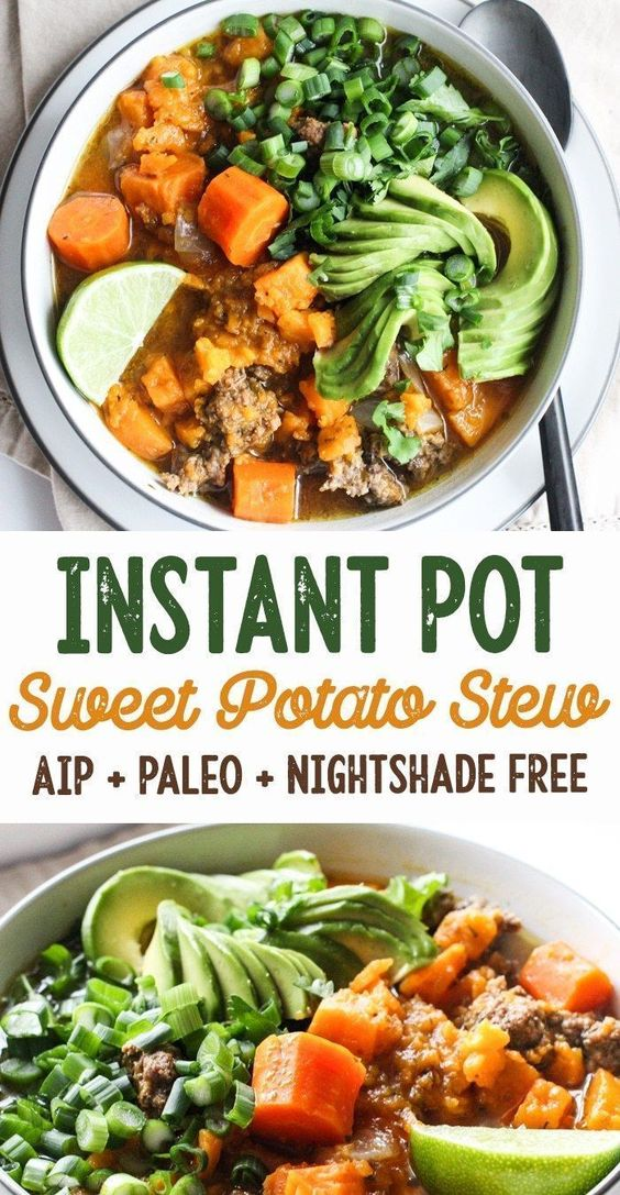 BEST INSTANT POT SWEET POTATO & BEEF STEW