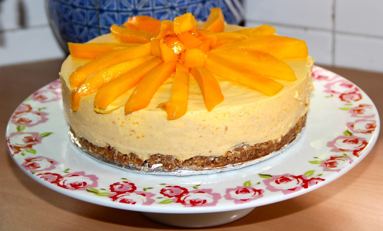 Cocinar es vivir y bordar tambi n tarta de queso con for Cocinar con mango