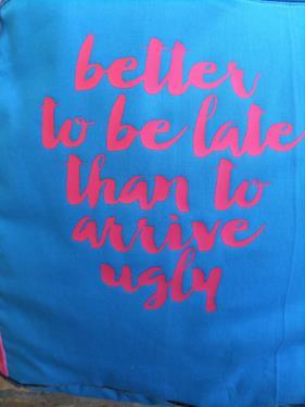 Markttasche von farbenmix in blau-pink