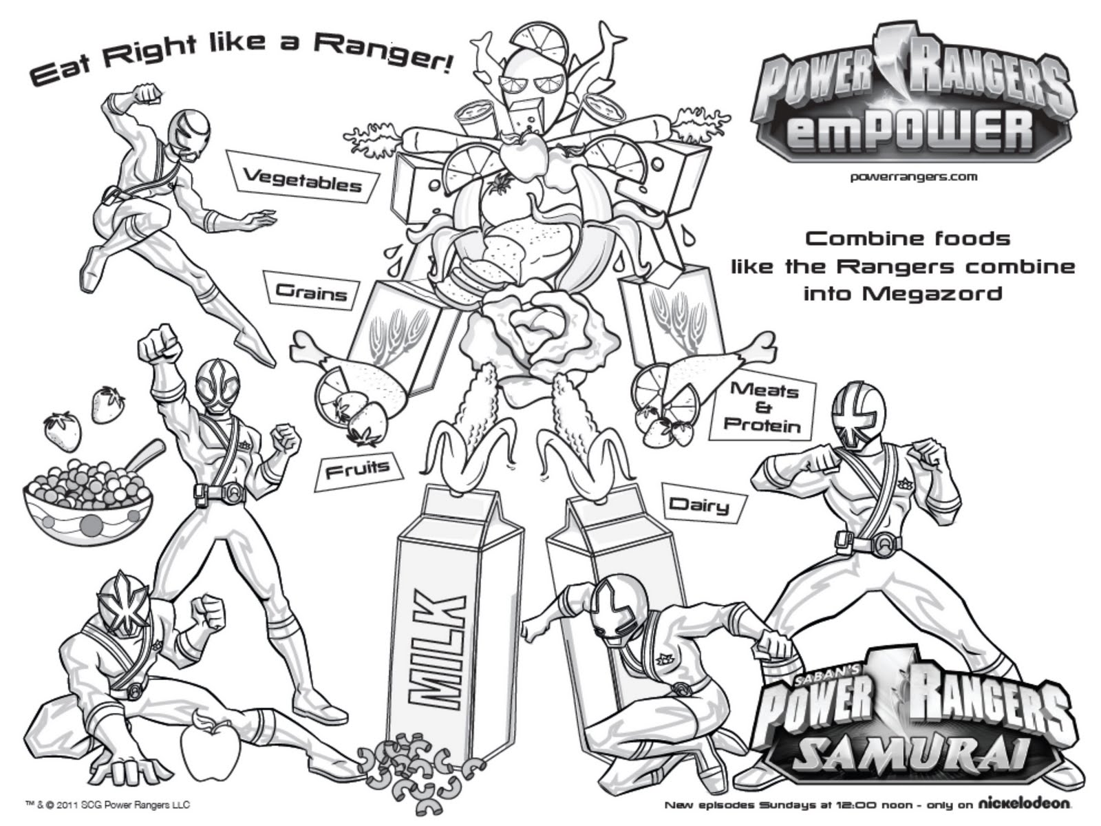 Power Rangers Samurai Activities