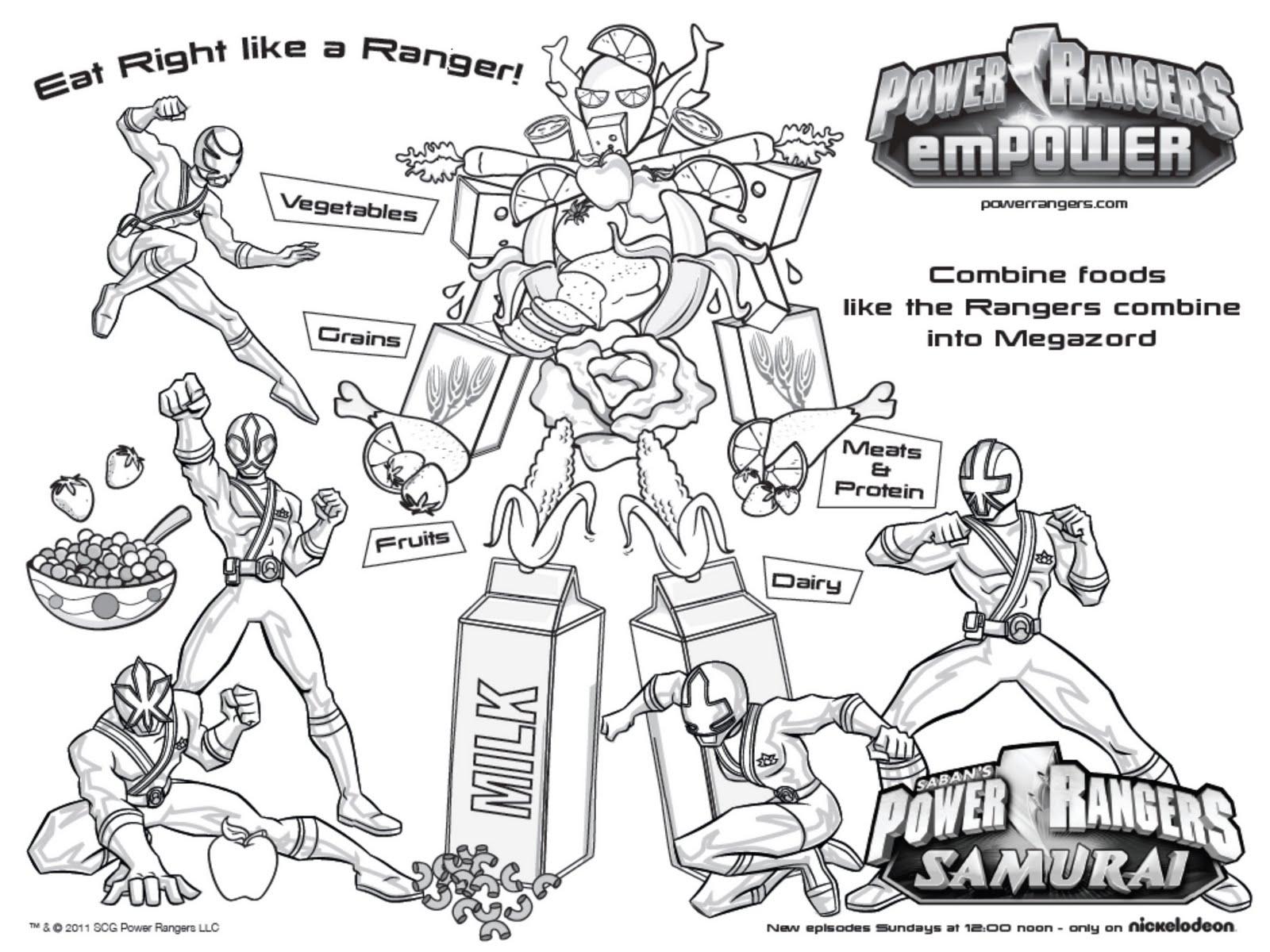 Power Rangers Samurai Activities