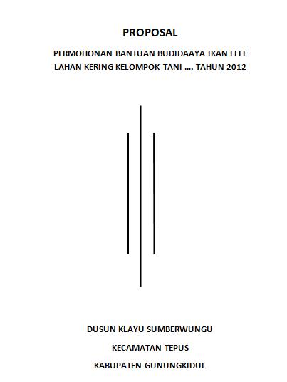 Contoh Cover Proposal Usaha Roti Bakar - Kerkoso
