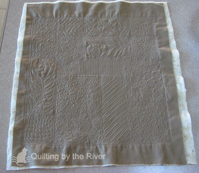 Free-motion quilting sample