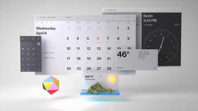 Tampilan baru Windows 10 dengan Fluent Design System