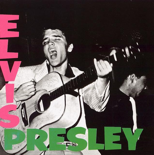 elvis presley, debut album elvis presley, blue moon elvis presley, blue suede shoes, elvis presley 1956, pochettes d'albums légendaires, presley années 50, i got a woman presley, mystery train