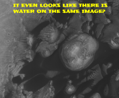 It looks like there is even water on Mars with these images.