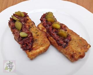 Tofu en Tempura con Salsa Tomate Seco. Receta Vegana