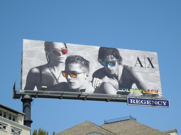 Armani Exchange Colorflash sunglasses billboard