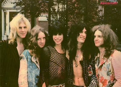 Aerosmith 1973 Tom Hamilton Brad Whitford Steven Tyler Joe Perry Joey Kramer