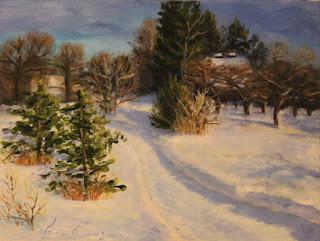 keiu kuresaar oil painting winter christmas õlimaal maastik talv kunst