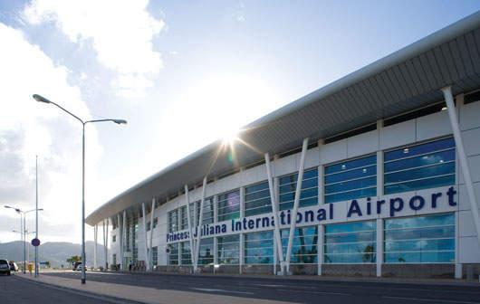 Entrée de l'aéroport Princesse Juilana