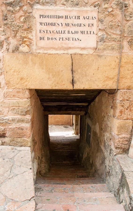 Callejón de Sepúlveda. Segovia. Hoy compartimos-Calles, caminos y carreteras