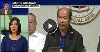 Watch: Sec. Andanar claims senate reporters received $1000 each to cover Lascañas presscon